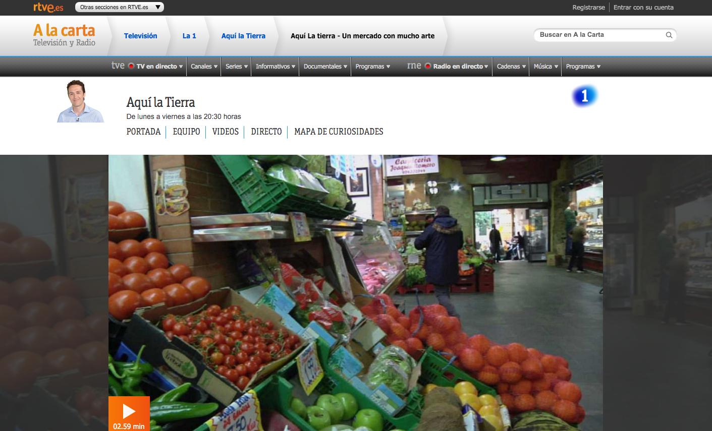 El mercado en TVE1